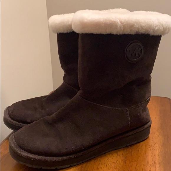 Michael kors brown slip on boot